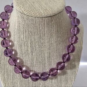 Jewelry - Vintage Purple Necklace Graduated Bead Lucite